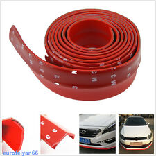 6.5cm*250cm Red  Car SUV Front Bumper Lip Protector Pad Spoiler Valance For Fiat