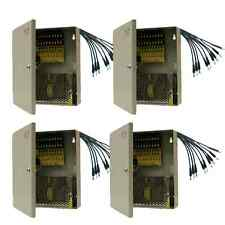 4 x Power Supply Box 9 Port DC+Pigtail FOR CCTV Camera