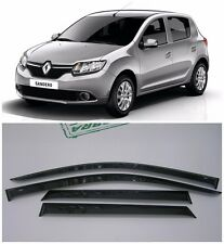 For Renault Sandero 2014-2017 Side Window Visors Sun Rain Guard Vent Deflectors