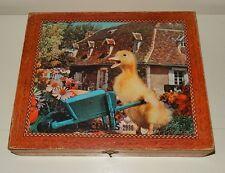Ancien jeu jouet en bois CUBES SATURNIN ORTF vintage 60 -70