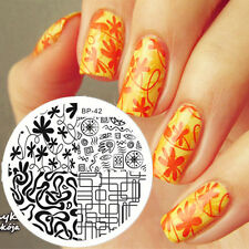 Nail art Stamping plate. BP-42. Born pretty original plate. Stamp manicure gift.