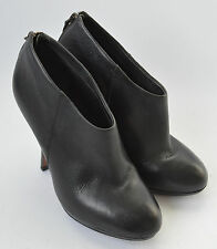 Ladies KG By Kurt Geiger Black Leather Shoe Boots Shoes Size Uk 7