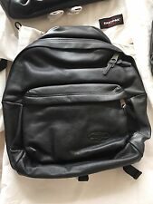 New Eastpak Black Leather Backpack. Genuine Leather