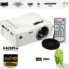Mini HD LED Projektor 1080P Cinema Theater VGA USB AV HDMI SD Heimkino Beamer