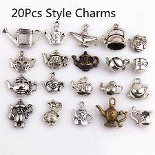 20Pcs Mixed Tea Pot  Charms Pendants Tibetan Silver For Necklace Bracelet