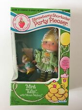 Vintage Strawberry Shortcake Mint Tulip Party Pleaser Doll & Pet in Box Kenner
