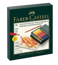 #110038 Gift Box of 36 Faber-Castell Polychromos Artists' Art Colour Pencils New