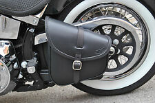 SADDLE BAG FOR HARLEY DAVIDSON SOFTAIL AND RIGID FRAMES, ITALIAN LEATHER