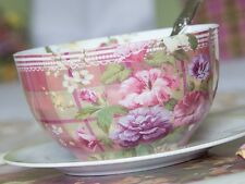 Katie Alice Highland Fling Tartan Floral Shabby Chic Cereal Bowl
