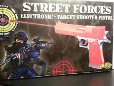 Target Shooter Pistol Toy Gun Police Task Force Sounds Infrared Batteries includ