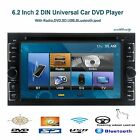 """6.2"""" LCD HD Double 2 din Car Stereo CD DVD Player Bluetooth iPod TV MP3 US"""