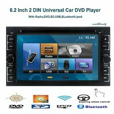 "Double 2 Din 6.2"" Stereo Car DVD CD Player Bluetooth IR Radio SD/USB MP3 Ipod TV"