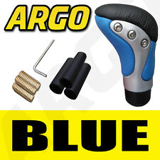 Azul Cromo Negro Cuero Gear Shift Stick Palanca Perilla Volkswagen Vw Golf Plus