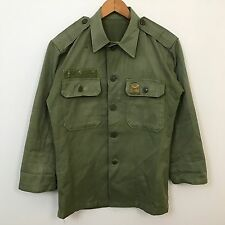 VTG 60s 70s Korean Vietnam War Shirt Mens SZ M Uniform Soldier South Korea