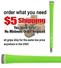 NEON GREEN GOLF CLUB GRIP 1 PIECE SIZE .600 ROUND MENS STANDARD PRIDE GRIPS