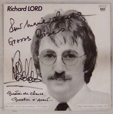 Dédicace Richard Lord 45 tours 1981