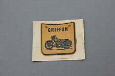 Chromotransfert décalcomanie GRIFFON Motocyclette Moto 50/60 decalcomanie