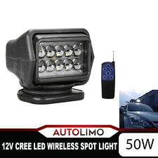 LED CREE Wireless Searching Spot Light Remote Control Worklight Lamp 50W 12V