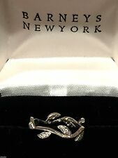 "Cathy Waterman Platinum Diamond Ring Band ""Vine and Leaf""  Size 6"