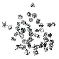 Wholesale 40pcs Mixed Tibetan Silver Charm Pendant Lot Beads Connector DIY