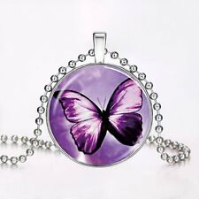 Butterfly Charm Glow In The Dark Luminous Steampunk Pendant Chain Necklace New