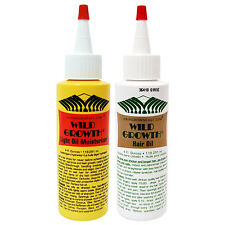 Wild Growth - Light Oil Moisturizer 4oz & Hair Oil 4oz (2-Pack)
