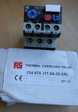 RS thermal overload relay 134-875 (17.0a-25.0a )