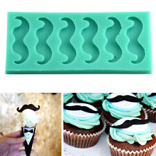 Silicone Beards Mustache Fondant Mould Cake Decorating Sugarcraft Chocolate Mold