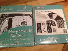 Lelli-Bot Crafts ~ Merry Mono Christmas ~ Luxury Toppers & Papers Pack ~ PERFECT