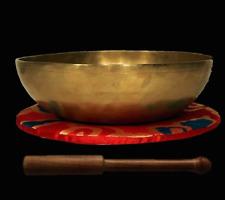 Hand hammered Tibetan Singing Bowl Samhadi 21 cm diameter 1025 g Nepal