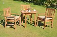 4 PC DINING TEAK SET GARDEN OUTDOOR PATIO FURNITURE POOL OSBORNE ARM DECK CHAIRS