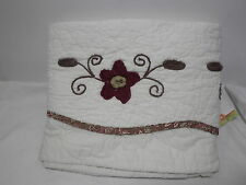 Nostalgia Home Fashions ALWAYS HOME DELIA Ivory  Valance 52x15 Embroidery Floral