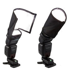 Foldable Speedlite Reflector Snoot Flash Softbox Diffuser Bender Beam Universal