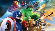A4 LEGO MOVIE SUPERHEROES POSTER PRINT WALL ART - MARVEL
