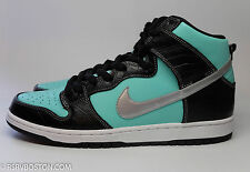 Nike Dunk High Premium SB 12 Aqua Chrome Black Diamond Supply Co Tiffany New