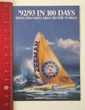 Aufkleber/Sticker: '92/93 In 100 Days Singlehanded - Zeeman (010616124)