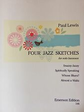 Paul Lewis - Four Jazz Sketches - for solo bassoon