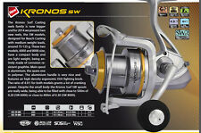 Trabucco Kronos sw surf fishing reel 8000 size . perfect for medium tackle surf