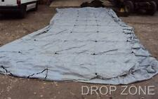 French Ex Military Large Parachute Canopy, Bushcraft, Backdrop, Games Blue Grey