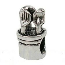 SILVER PLATED COOKING UTENSIL CHARM SPACER BEAD ** SEE MY STORE FOR BRACELETS