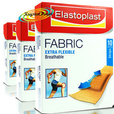 3x Elastoplast Fabric Extra Flexible Breathable Wound Cushion 10 Plasters