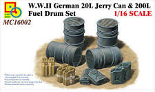 Classy Hobby 1/16 MC16002 WWII German 20L Jerry Can&200L Fuel Drum Set