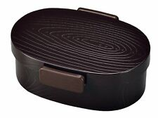 HAKOYA Lunch Bento Box 52902 Wood Grain Oval Small Urumi MADE IN JAPAN