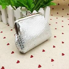 Casual Womens Small Sequin Wallet Card Holder Coin Purse Clutch Handbag Bag D1