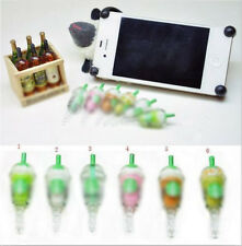 1Pc Coffee Cup Cell Phone Charm 3.5mm Anti Dust Proof Plug Headphone Ear Cap