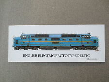 BOOKMARK English Electric Prototype DELTIC Locomotive Railway Train Spotters