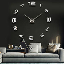 Orologio da parete con numeri adesivi in 3D effeto specchio