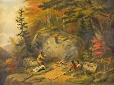 PAINTINGS LANDSCAPE AUTUMN CANADA CHIPPEWAY INDIAN KRIEGHOFF LV3185