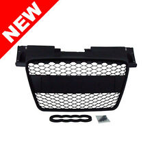 06-13 AUDI TT 8J MK2 BADGELESS HONEYCOMB HEX MESH GRILLE w/ BADGE HOLDER - BLACK