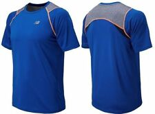 New Mens New Balance Performance Running Shirt Size M Optic Blue MSRP $40